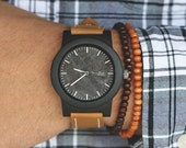 Wood Watch, Made from Sandalwood and Calfskin Leather Strap - BRLY-L