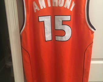 Throwback Mitchell and Ness Syracuse Orangemen #15 Carmelo Anthony 2XL - 54 Orange NCAA Basketball Jersey