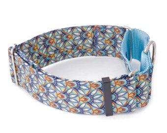 "Dog Collar - Egyptian Peacock - 3/4"" - 2"" Widths - Caninus Collars"