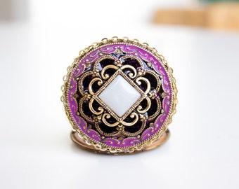 Elegant Locket, Vintage Photo Locket, 1920s Necklace, Pink Locket, Reign Jewelry, Edwardian Locket, Bridesmaid Locket, Victorian Locket