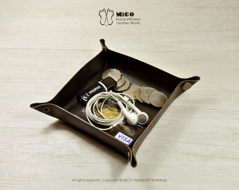 MICO leather valet tray