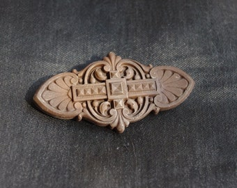 Nice antique gutta percha brooch