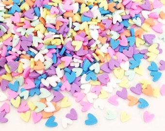 20g Candy Sprinkles - Heart / Rainbow Pastel Kawaii Cute Fake Food Polymer Clay Cell Phone Deco