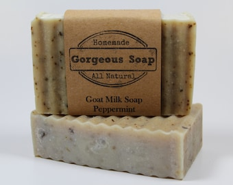 Peppermint Goat Milk Soap - All Natural Soap, Handmade Soap, Homemade Soap, Handcrafted Soap