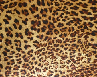 "Leather 12""x12"" GOLD METALLIC soft Banana Leopard Print Grain Cowhide Fairly Thin 2-2.25oz/0.8-.09 mm PeggySueAlso™ E2550-01A full hides too"