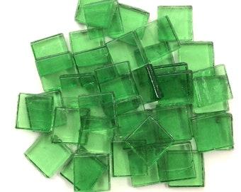 """15mm (3/5"""") Blatt grün Transparent Glas Mosaik-Fliesen / / Mosaik-Zubehör / / Handwerk"""