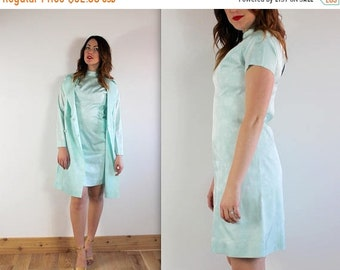 SPRING SALE Vintage 2 Piece Dress + Jacket Asian Inspired Outfit