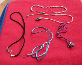 Lot Of Rope Necklaces Beaded Necklaces Restring Repurpose TLC