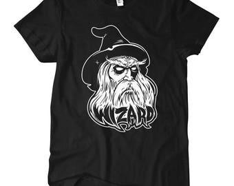 Women's Wizard T-shirt - S M L XL 2x - Ladies' Wizard Tee, Magic Shirt, Horror, Fantasy, Sci Fi - 4 Colors