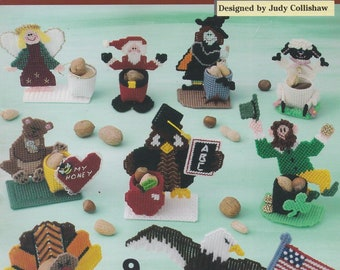 Holiday Nut Cups, The Needlecraft Shop Plastic Canvas Pattern Booklet 842332