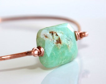 Chrysoprase Bracelet * Chrysoprase Jewelry * Green Bracelet * Stacking Bangle * Stackable Bracelet * Bangle...........*Suspicious Situation*