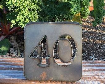 Rustic Metal Numbers for Wedding (#1-20)