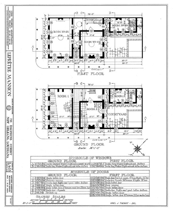 New orleans french quarter mansion architectural drawing malvernweather Images