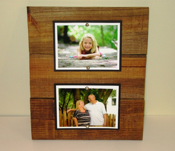 Double Wood Picture Frame 5X7 Picture frame Rustic Picture