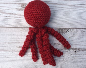 Rattle Cat Toy - Cat Toys - Octopus - Cute Cat Toys - Red Cat Toy - Fun Cat Toys - Unique Cat Toy - Cat Accessories - Gift For The Cat