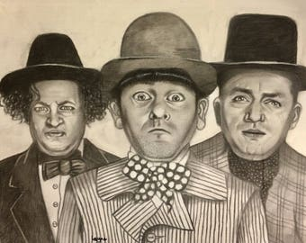 The three stooges pencil sketch