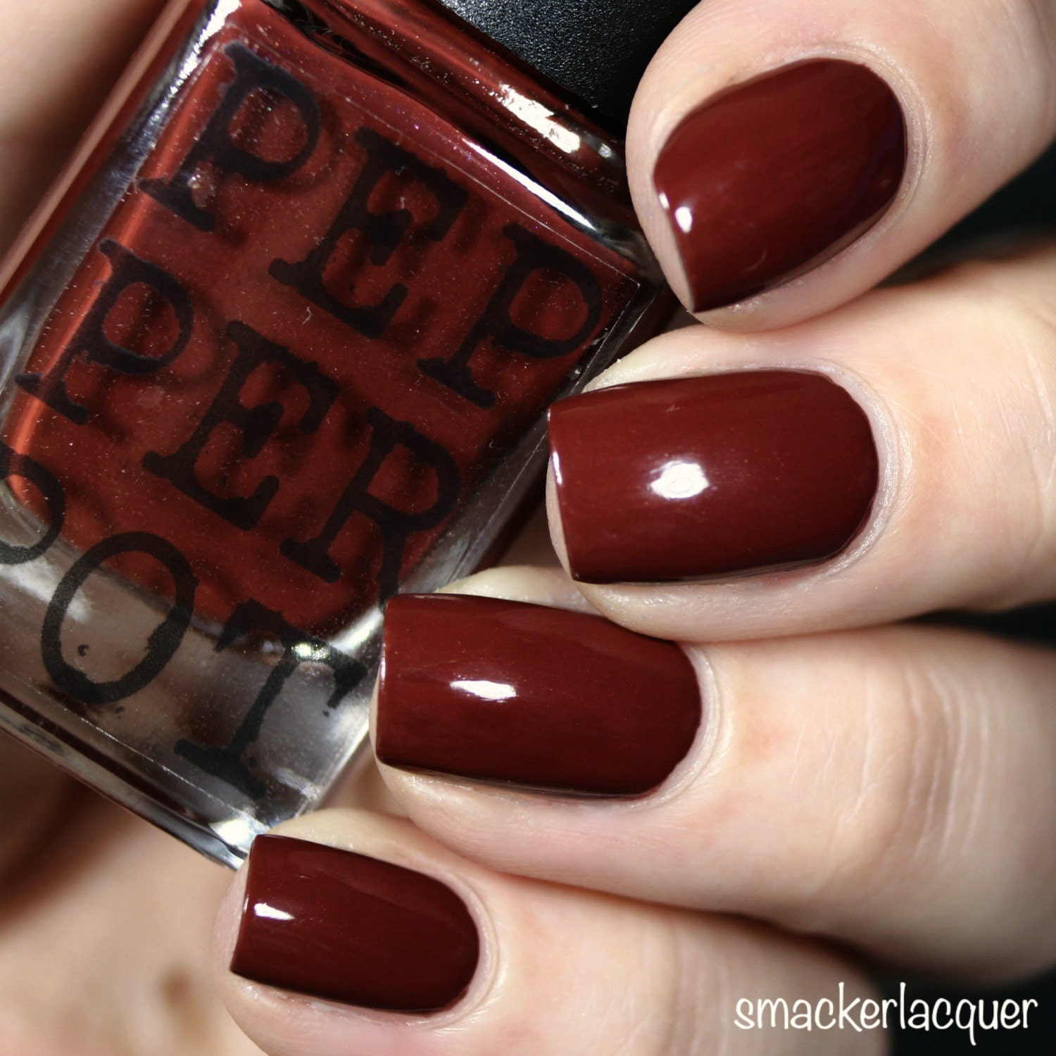 Deep Red Oxblood Red Nail Polish Gold Shimmer Super