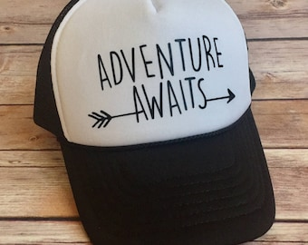 Adventure Awaits Youth Trucker Hat