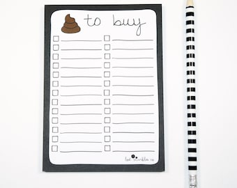 Shopping List Notepad ∙ Stocking Stuffer ∙ Stocking Filler ∙ Grocery List Pad ∙ Notepad ∙ Jotter ∙ Sh*t to Buy