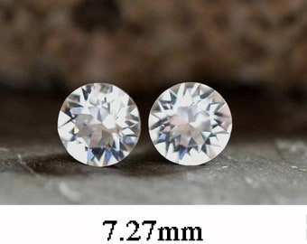 7.27mm, Crystal Studs, Rhinestone Stud Earrings, Xirius, Clear Crystal Stud Earrings, April Birthstone, Birthstone Earrings