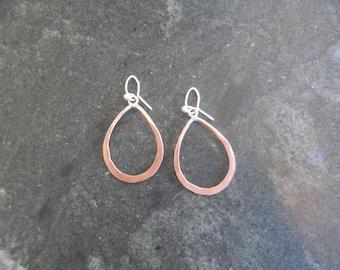 Small copper Teardrop Earrings