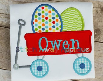 Easter Egg Wagon Machine Applique Design