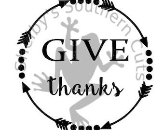 Give Thanks SVG file