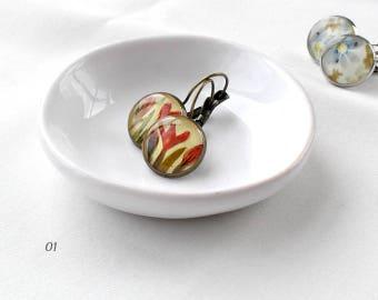 Cute earrings boho gift idea for women birthday gift Copper earrings Bohemian jewelry for daughter gift Boho earrings for her hippy earrings