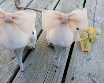 Wedding Shoe Clips, Bridal Shoe Clips, Shoe Clips,Clips for Wedding Shoes, Bridal Shoes,Bow Shoe Clips, Organza Bow Shoe Clips
