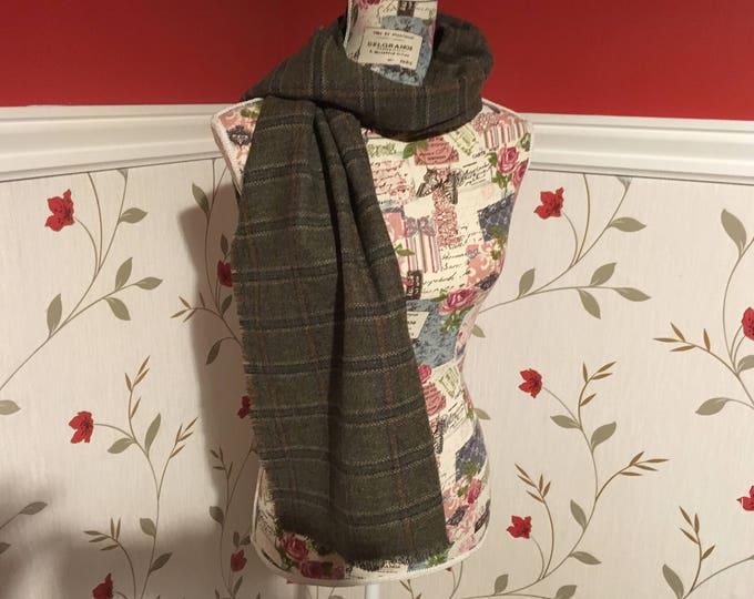 Tartan Tweed Wool Scarf - Tartan Tweed - 100% wool - Soft - Unisex scarf - Plaid - Checked
