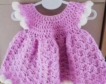 Gorgeous crochet baby dress