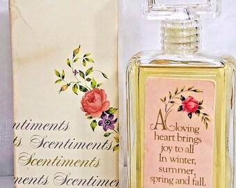 Avon Scentiments Sweet Honesty Cologne Bottle Full in Box Vintage 1978