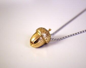 Acorn Necklace  - Hidden Message