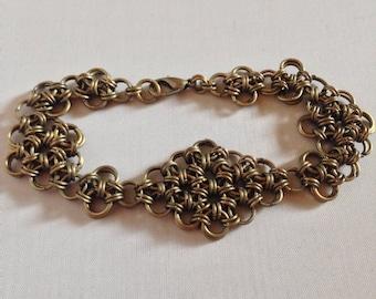 Antique Diamond and Flowers Bracelet