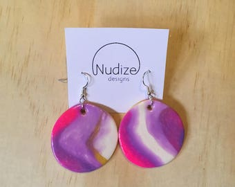 "Handmade statement dangle earrings // gifts for her // ""Careless"""