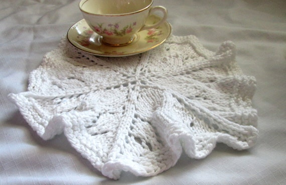 Round Dishcloth Knit Pattern Knit Doily Pattern Lace Washcloth