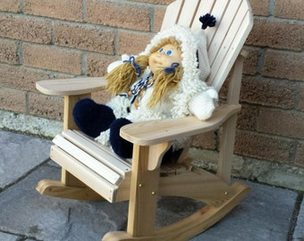 Child Size Adirondack Rocking Chair Plans - DWG files for CNC machines
