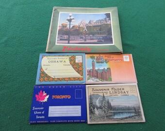 Vintage Souvenir Postcard Folders Folding Postcards + 1947 Miniature Calendar Great Condition Canada