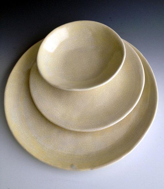 Like this item? & Handmade organic stoneware dinnerware place settings set of