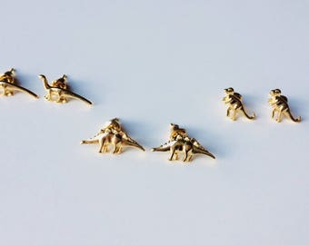 Dinosaur | T-rex | Diplodocus | Stegosaurus | Raptor | Cute | Retro | Earrings