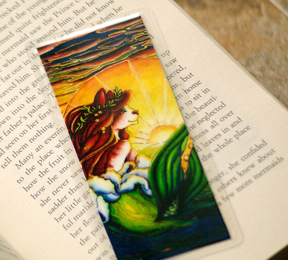 Art Nouveau Mermaid Cat Bookmark