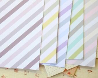 Set 02 Ice Cream Stripes Pastel Mix printed card stock 250gsm