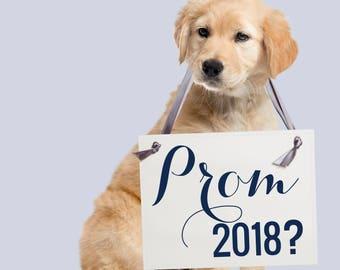 "Promposal Sign ""Prom 2018?"" | High School Prom Date Banner | Junior Prom Senior Prom Creative Unique Idea Handmade USA Prom Posal 1245 BW"