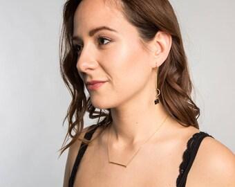 Geometric Earrings // Geometric Jewelry // Dangle Earrings // stone earrings // stone and metal earrings