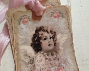 Gift Tags Angel Tags Easter Basket Tags Sweet Cherub Tags Set of 4