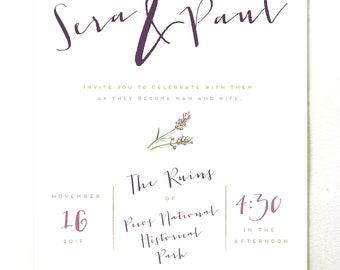 Olive Wedding Invitations