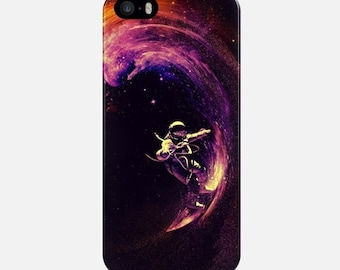 Cosmic Surfing iPhone Case, Space iPhone SE Case, Purple iPhone 6S Plus Case, iPhone 7 Cover, Galaxy S7 Case, Space Case iPhone, 5S Case