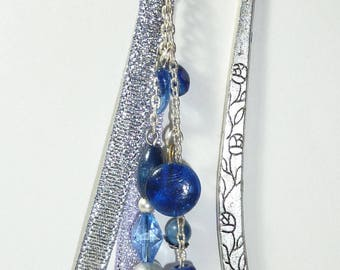 "Large bookmark jewel beads ""Blue Ribbon fish"""