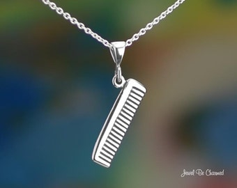 "Sterling Silver Hair Comb Necklace 16-24"" Chain or Pendant Only .925"