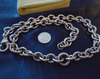"""Judith Ripka 10mm and 100g & 20"""" Cable Chain Solid Sterling Silver"""